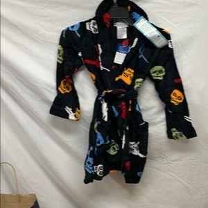 Komar Skulls  Kids plush robe